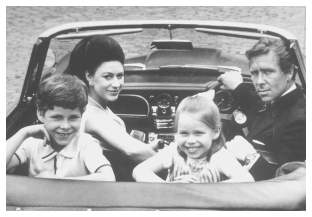 H.R.H. Princess Margaret and Lord Snowdon with Children David and Sarah